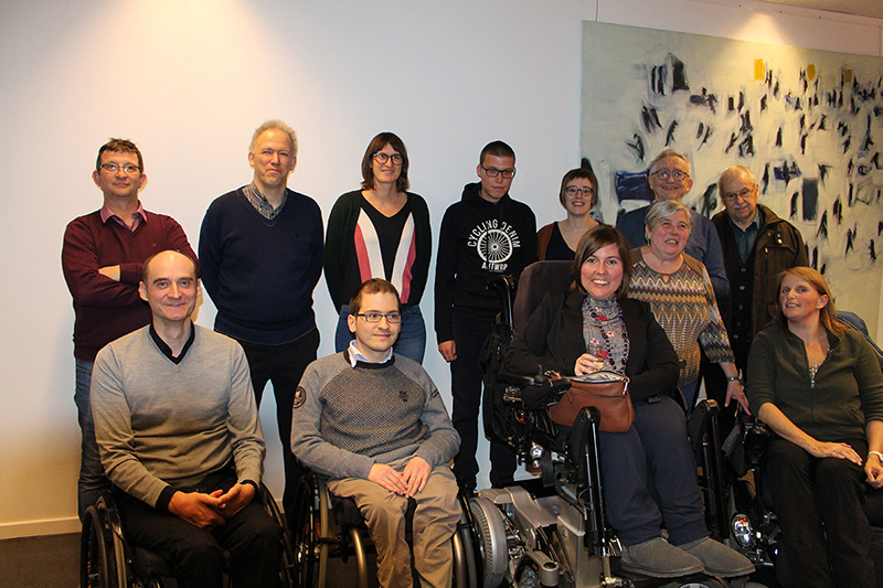 Foto van de leden van de adviesraad Leuven Toegankelijk